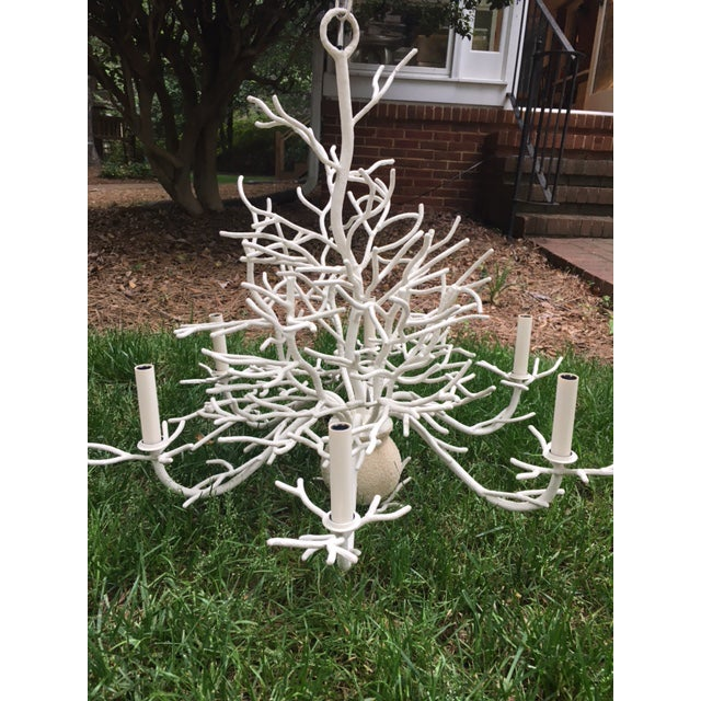 Currey and Company Seaward Faux Coral Chandelier - Image 2 of 5