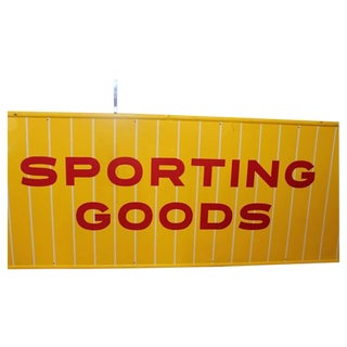 1950s Sporting Goods Metal Sign