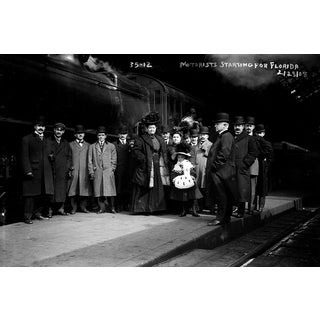 Vintage 1908 American Train Station Photograph