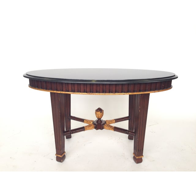 Oval Coffee Table Ireland: Oval Granite Coffee Table With Tapered Legs