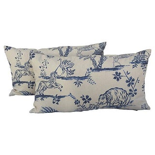 Animal Toile Textile Pillows - Pair
