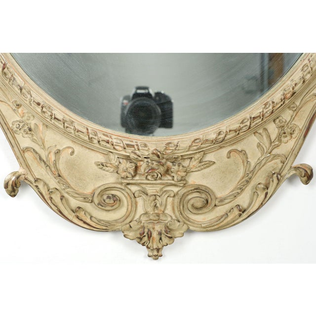 Adam's Style Cream Painted Wall Mirrors - A Pair - Image 10 of 10