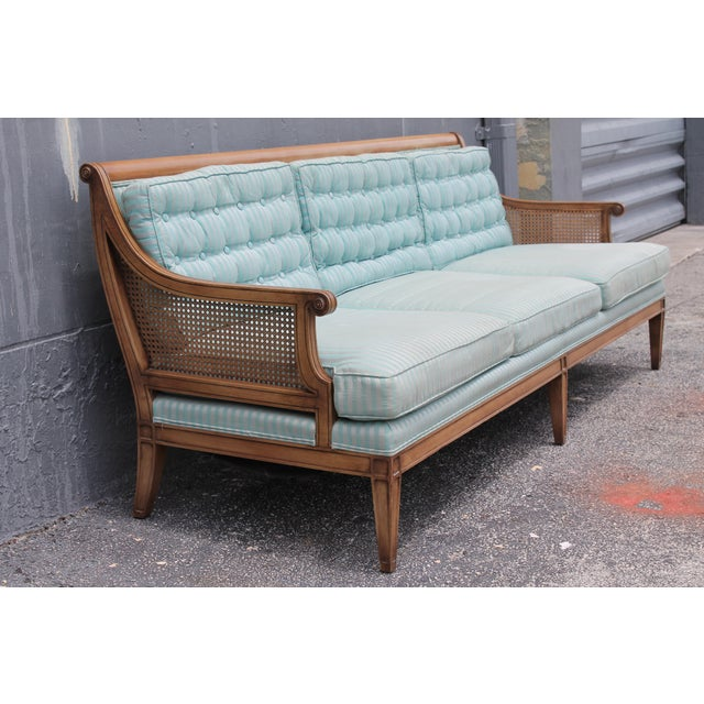 "Mid Century Neoclassical ""Hamptons"" Sofa - Image 4 of 11"