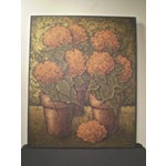 Image of 1960's Floral Oil Paintings - A Pair