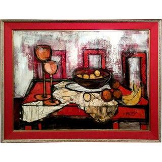Mid-Century Modern Still Life Oil Painting