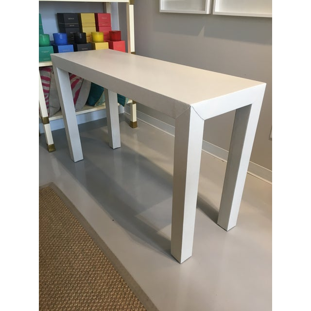 Upholstered Celine Parsons Table - Image 4 of 9