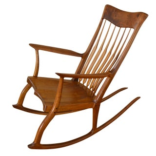 Michael Nieman Hand Made Walnut Rocking Chair
