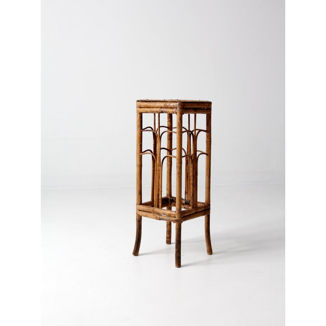 Image of Vintage Bamboo Side Table