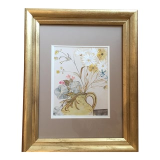 Spring Bouquet in Yellow Pitcher Print
