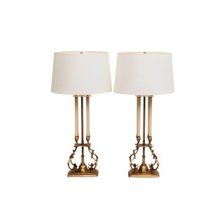 Tommi Parzinger for Stiffel Bouillotte Table Lamps, A Pair