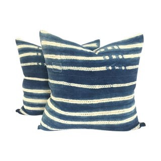 Vintage African Indigo Pillows - A Pair