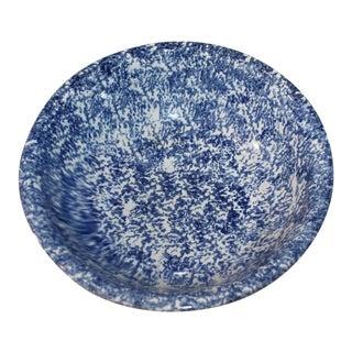 Monumental 19th Century Spongeware Serving Bowl