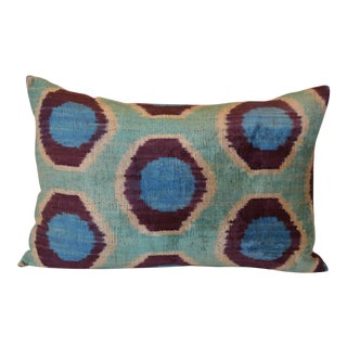 Silk Velvet Ikat Taci Pillow