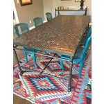 Image of Iron & Mosaic Dining Set - Table & 6 Chairs