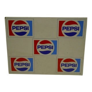C. 1970 Cardboard Pepsi Advertising Sign