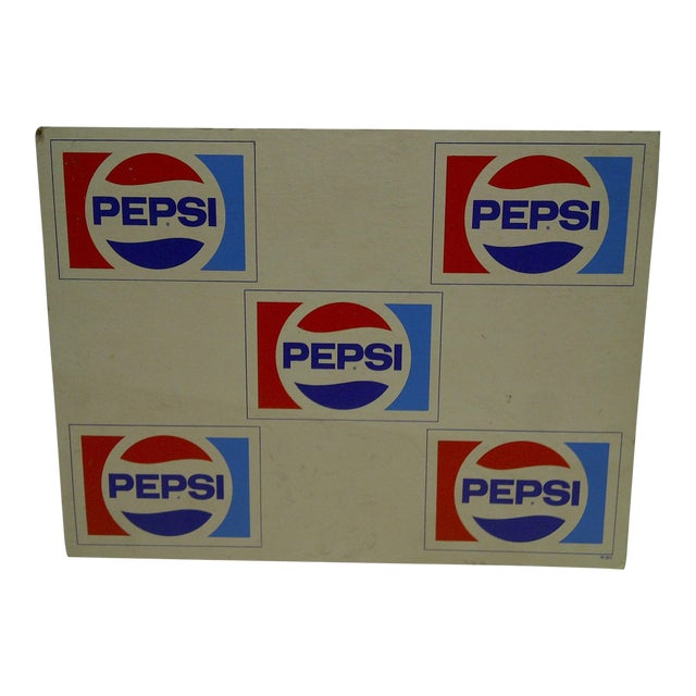 C. 1970 Cardboard Pepsi Advertising Sign - Image 1 of 5