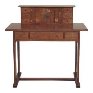 Stickley Harvey Ellis Design Inlaid Oak Writing Desk