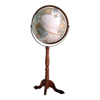 Vintage Oak World Globe