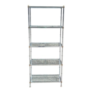 Jansen Chrome and Glass Bookshelf