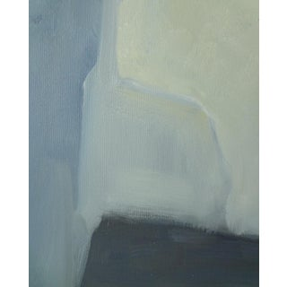 Abstract Modern Blue and Gray Original Painting