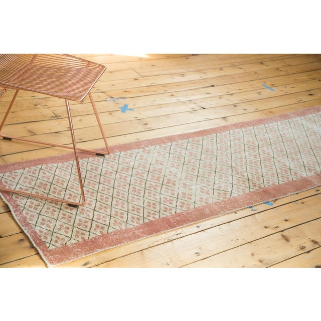 "Vintage Distressed Oushak Runner- 2'3"" x 9'6"" - Image 4 of 7"