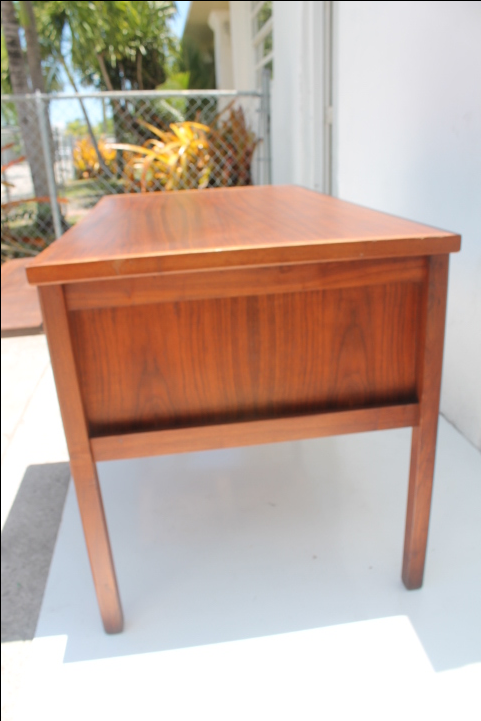 Maurice Villency Mid Century Danish Teak Desk   Image 5 Of 11