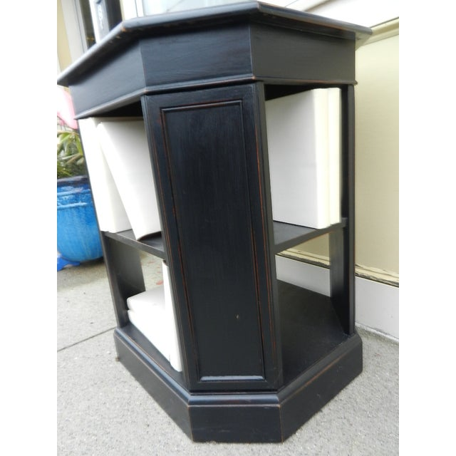 Leather Top End Table Bookcase - Image 5 of 5