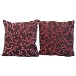 Image of Beaded Linen Pillows - A Pair