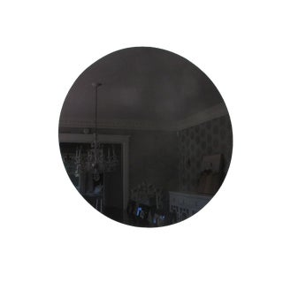 Modern Black Glass Mirror