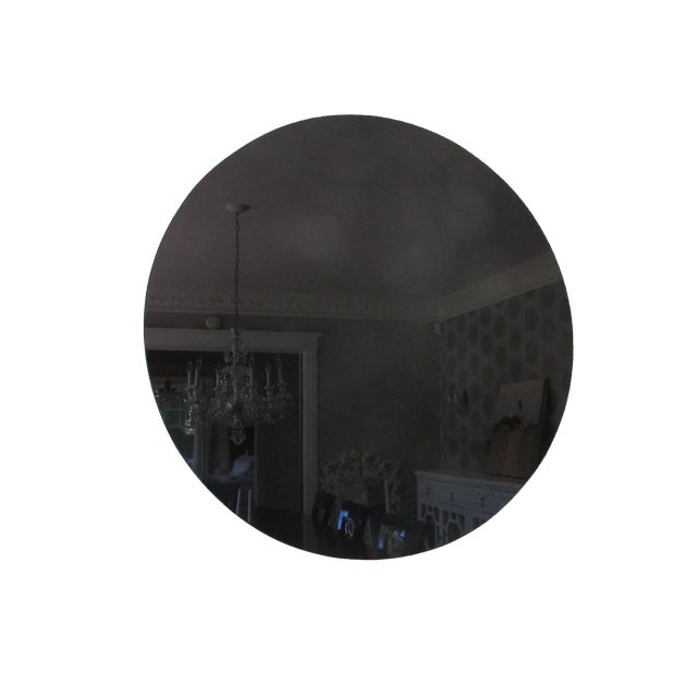 Image of Modern Black Glass Mirror