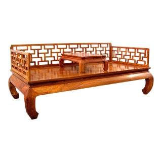 Chinese Ming-Style Huali Wood Couch Bed