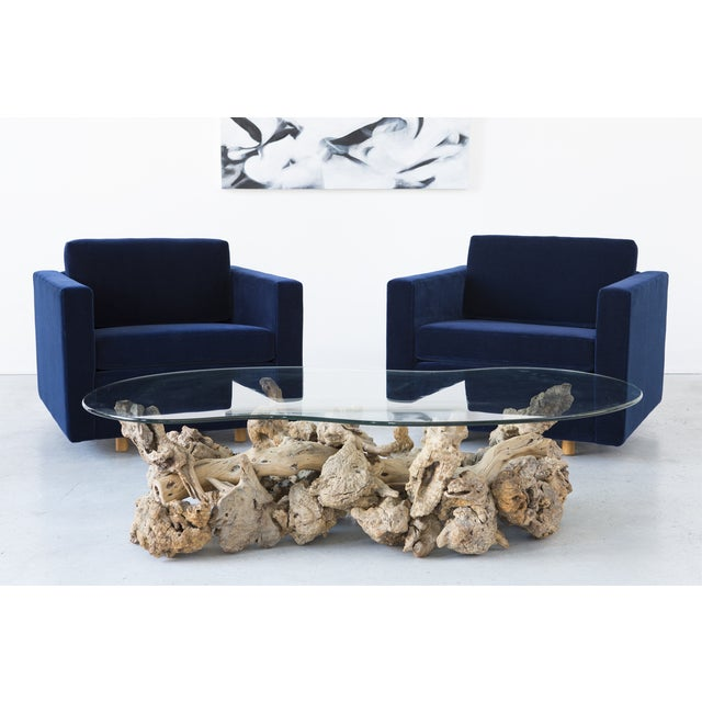 Jack Cartwright Blue Mohair Cube Chairs - Pair - Image 11 of 11