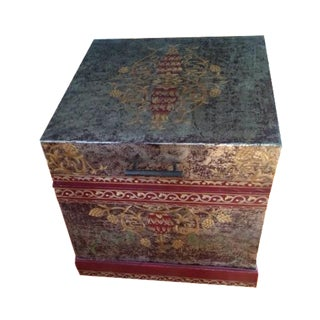 Hand Painted Trunk End Table