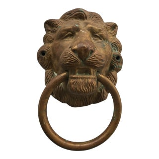 Cast Brass & Copper Lion Hand Towel Ring