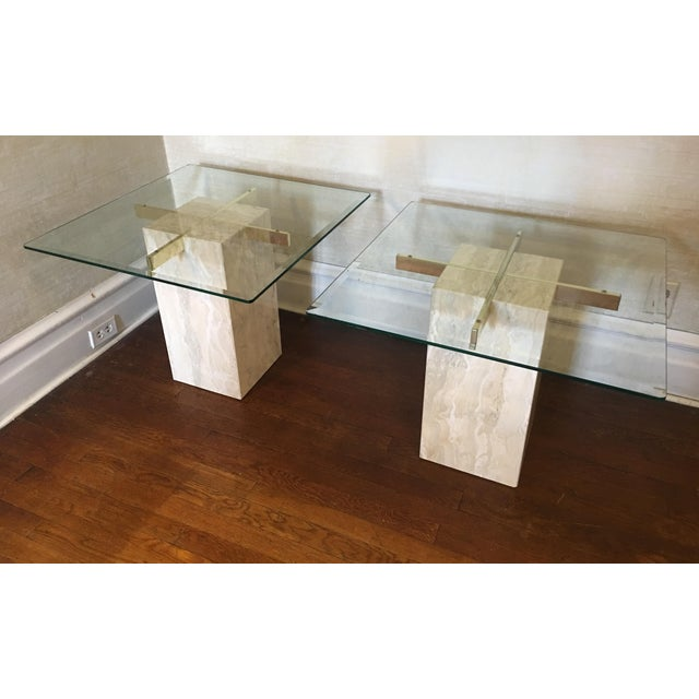 Mid-Century Travertine Side Tables - A Pair - Image 2 of 10