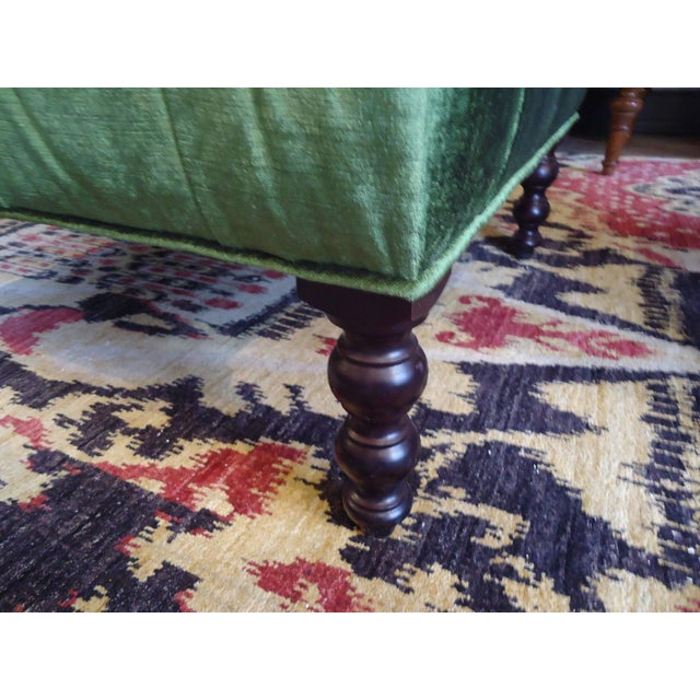 Green Velvet Tufted Ottoman Coffee Table - Image 3 of 3