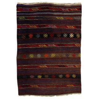 Colorful Turkish Kilim Rug - 2′1″ × 3′1″