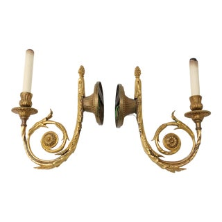 Louis XVI Style Bronze Dore Wall Sconces - A Pair