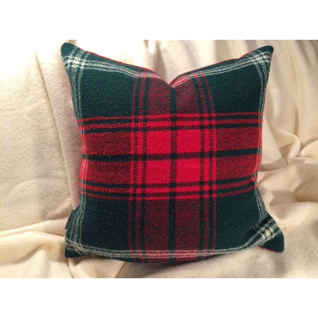 Image of Blanket Pillows, Red and Green Plaid - Pair