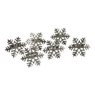 Silverplate Snowflake Napkin Rings - Set of 6