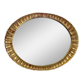 1960's Gilt Sunburst Mirror Italian