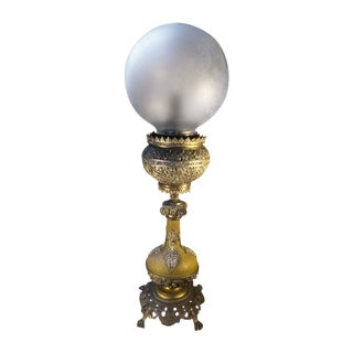 Antique Bradley & Hubbard Parlor Banquet Lamp