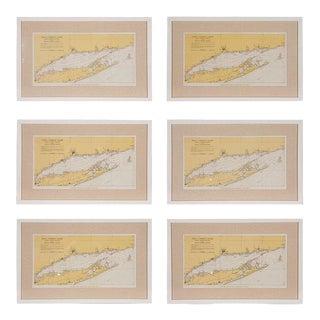 Long Island Tital Charts or Maps - Set of 6