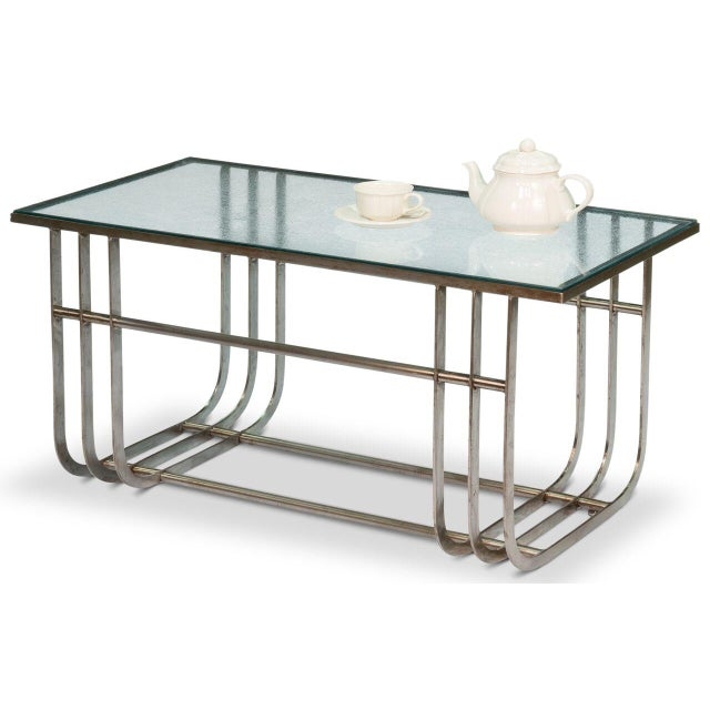 Sarreid LTD Donald Deskey Style Table - Image 8 of 9