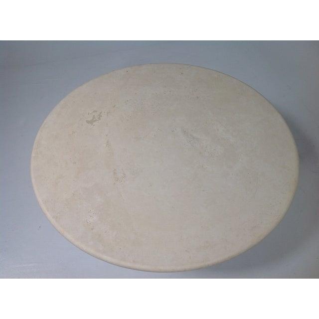 Image of Round Cream Travertine Table Top