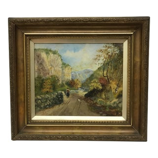 Antique English Oil Painting