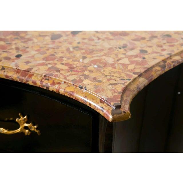 Image of French Louis XV Style Ebonized Commode