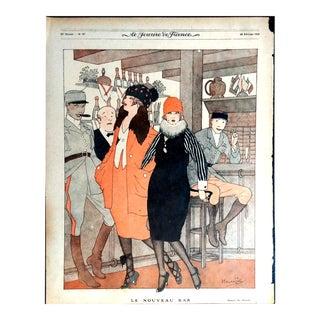 """Hemjic 1919 """"Le Nouveau Bar"""" Le Sourire Print"""