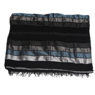 Black & Silver Safi Handmade Throw