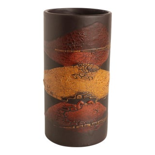 Alrun Guest for Royal Haeger Earth Wrap Cylinder Vase